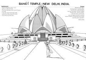 studio1world bahai inspired art - Drawing: Bahá\