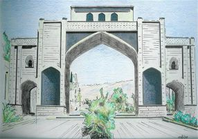 studio1world bahai inspired art - The Gate of Shiraz