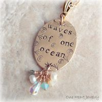 studio1world bahai inspired art - Waves of One Ocean Necklace