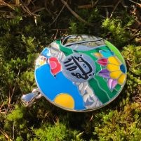 studio1world bahai inspired art - Chile Temple Enamel pendant