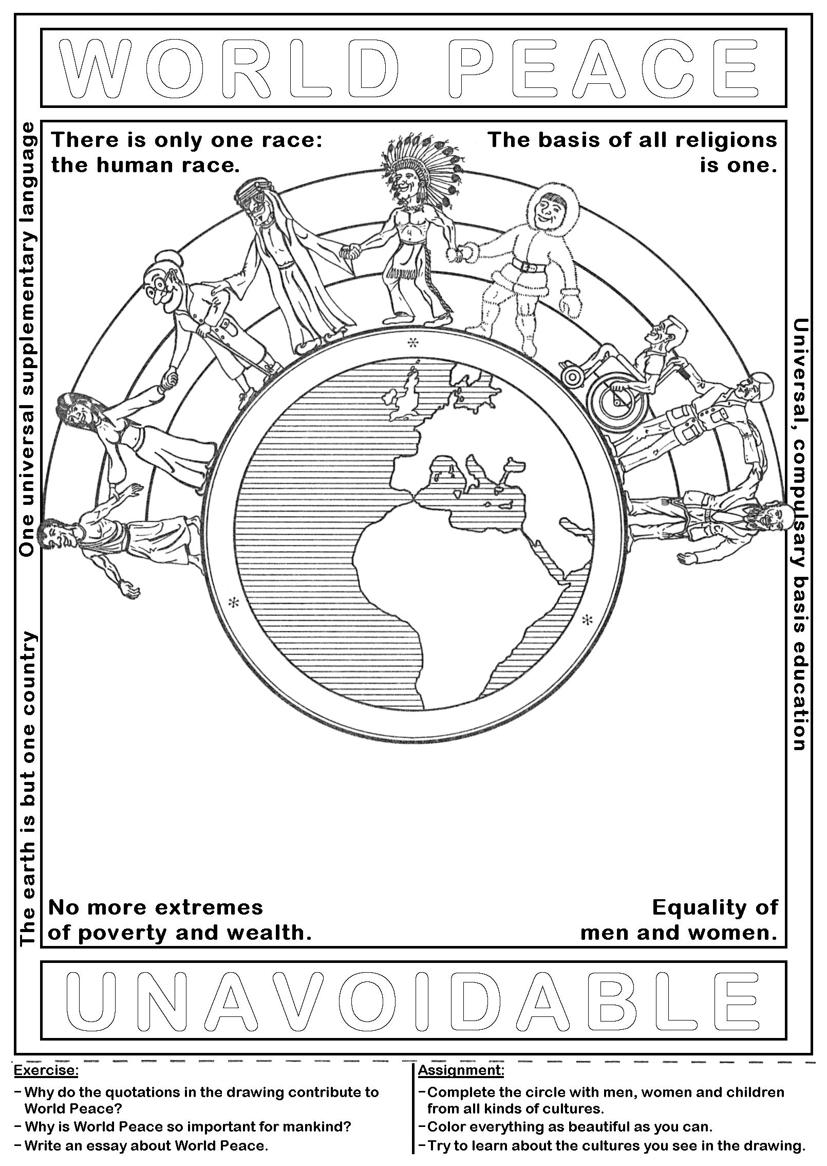 Ideal Artwork - Presentations - Drawing: World peace - half circle. TZ32