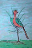 studio1world bahai inspired art - Love Bird